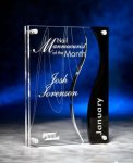 Wave Cutout Clear and Black Acrylic Award Achievement Awards