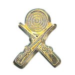 Crossed Rifle Chenille Pin Lapel Pins