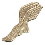 Winged Foot Chenille Pin Lapel Pins