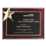 Corner Star Plaque Sales Awards